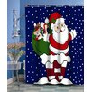 Carnation Home Fashions Up on the Rooftop Holiday Shower Curtain