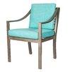 David Francis Furniture Manhattan Dining Arm Chair with Cushions