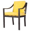 David Francis Furniture Capri Dining Arm Chair with Cushions