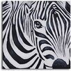 My Art Outlet 'Zebra Perspective' Original Painting on Wrapped Canvas
