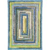 Company C Concentric Sky Blue Striped Area Rug