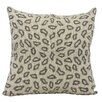 Mina Victory Beaded Leopard Throw Pillow