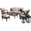 CO9 Design Villa 4 Piece Deep Seating Group with Cushion