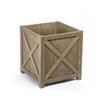 Earnest Reclaimed Teak Planter Box - Size: Small - Rosecliff Heights Planters