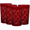 Home Essentials and Beyond Hiball Red Glass (Set of 4)