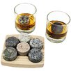 Sea Stones On The Rock 9 Piece Whiskey Set