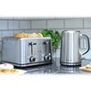 Brabantia 4 Slice Toaster and Kettle Breakfast Set