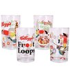 R Squared Kellogg's Froot Loops 4 Piece Juice Glass Set