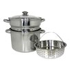 Cook Pro 4 Piece 8 Qt. Stainless Steel Multi-Cooker Set