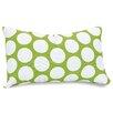 Majestic Home Goods Polka Dot Large Cotton Lumbar Pillow