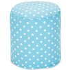 Majestic Home Goods Polka Dot Small Pouf