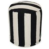 Majestic Home Goods Vertical Stripe Small Pouf