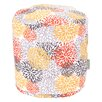 Majestic Home Goods Blooms Small Pouf