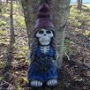 Skeleton Lady Gnome with Flower Statue - Design House Garden Statues and Outdoor Accents