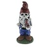Skeleton Man Gnome with Pipe Statue - Design House Garden Statues and Outdoor Accents