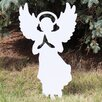 White Angel Silhouette Sign - Design House Garden Statues and Outdoor Accents