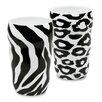 Konitz Zebra and Leopard Double Walled 2 Piece Mug Set