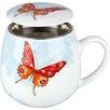 Konitz Flora and Fauna Bijou Tea for One Mug with Strainer and Lid