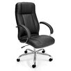 OFM Stimulus Series Adjustable Synthetic Leather Executive Chair with Padded Arms