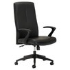OFM High-Back Executive Office Chair with Fixed Open Loop Arms