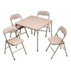 "MECO Corporation 5 Piece 34"" Square Folding Table Set"