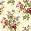 "York Wallcoverings Waverly Cottage Emma's Garden 33' x 20.5"" Floral Wallpaper"