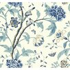 """York Wallcoverings Carey Lind Vibe Teahouse Removable 27' x 27"""" Floral Wallpaper"""