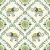 "York Wallcoverings Waverly Kids 33' x 20.5"" Bollywood Wildlife Roll Wallpaper"