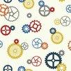 "York Wallcoverings Waverly Kids Wind Me up 33' x 20.5"" Geometric Wallpaper"