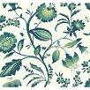 "York Wallcoverings Ashford Tropics Watercolor 27' x 27"" Jacobean Wallpaper"