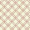 "York Wallcoverings Ashford Tropics 33' x 20.5"" Geometric 3D Embossed Wallpaper"