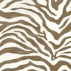 "York Wallcoverings Risky Business Magnetism 33' x 20.5"" Zebra Print Foiled Wallpaper"