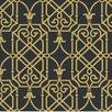 "York Wallcoverings Black and White Lattice 27' x 27"" Geometric Wallpaper"