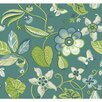 "York Wallcoverings Carey Lind Vibe Sea 27' x 27"" Floral and Botanical Wallpaper"