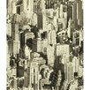 "York Wallcoverings Urban Chic Big Apple 33' x 20.5"" Figural Roll Wallpaper"
