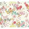 "York Wallcoverings Waverly Kids 27' x 27"" Botanical Wallpaper"