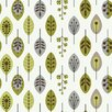 "York Wallcoverings Bistro 750 33' x 20.5"" Retro Leaves Foiled Wallpaper"