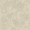 """York Wallcoverings Candice Olson Shimmering Details Dotted 33' x 20.5"""" Paisley Wallpaper"""