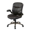 Office Star Products Mid-Back Leather Executive Chair