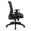 """Office Star Products Space 28"""" Back Chair with Eco Leather Seat and Flip Arms"""