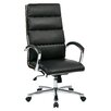 High Back Leatherette Padded Office Chair With Chrome Base