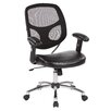 Office Star Products Mid-Back Office Chair with Adjustable Arm