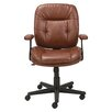 Oif Mid-Back Leather Task Chair with Fixed T-Bar Arms