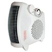 Comfort Zone 1,500 Watt Electric Fan Compact Heater with Adjustable Thermostat