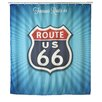 Wenko Vintage Route 66 Anti-Mold Shower Curtain