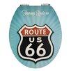 Wenko Vintage Route 66 Elongated Toilet Seat