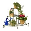Wenko Flower Stairs and Bench Iron Plant Holder