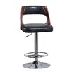 Powell Furniture Bent Adjustable Height Swivel Bar Stool with Cushion