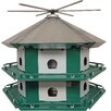 Mini Castle Safety 21 inch x 29 inch x 29 inch Purple Martin House - Erva Birdhouses