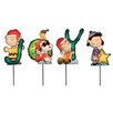 "Product Works ""JOY"" Peanuts and Snoopy Christmas Pathway Markers"